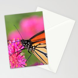 Butterfly Pink Floral by Reay of Light Photography Stationery Cards