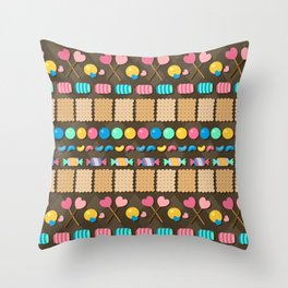 Sugar Madness Pattern Throw Pillow