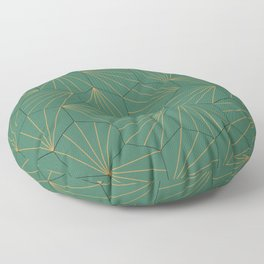 Emerald mosaic tiles Floor Pillow