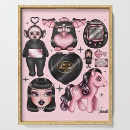Vintage Goth Toys Serving Tray