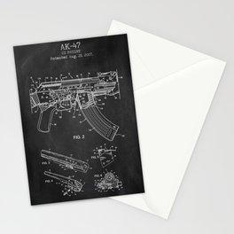 AK-47 chalkboard print Stationery Cards