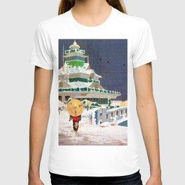 Kobayashi Kiyochika - Top Quality Art - Kaiun Bridge T-shirt