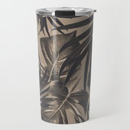 Tropical Jungle Leaves Pattern #2 #tropical #decor #art #society6 Travel Mug