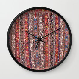Bijar Sumakh Kurdish Northwest Persian Horse Cover Print Wall Clock
