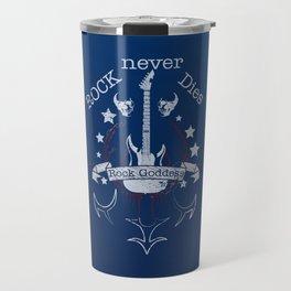 Rock Never Dies  - For Music Fans Travel Mug
