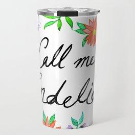 Call Me Cordelia- Red Flowers Travel Mug