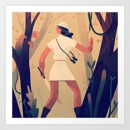 Explorer Girl Art Print
