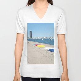 Chicago, Chicago shoreline, Skyline, Lake Michigan Unisex V-Neck