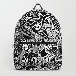 Polynesian Black And White Tribal Backpack