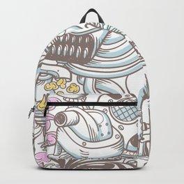 Funky Graffiti Greedy Capitalism Big Machine Hipster Urban Art Backpack