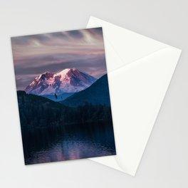 Sunset Mt. Rainier, Mineral, Washington Stationery Cards