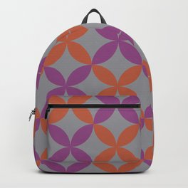 Purple Gray Orange Minimal Flower Pattern V12 2021 Color of the Year Ultimate Gray & Accent Shades Backpack