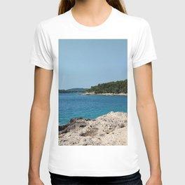 coastline bay at summer pula croatia istria T-shirt