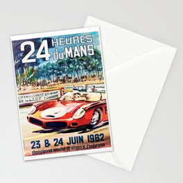 Le Mans poster, 1962, vintage poster, t-shirt, race poster Stationery Cards