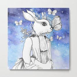 Magic Fairy Incantations Spark Rabbit Transformations Metal Print