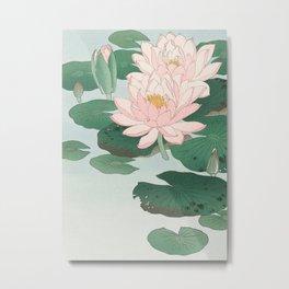 Water Lilies - Japanese vintage woodblock print Metal Print
