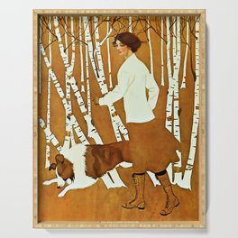 Coles Phillips 'Fadeaway Girl' A Walk in the Woods Serving Tray