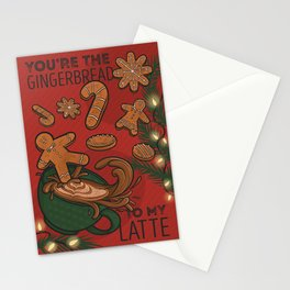 You're the Gingerbread to my Latte Holiday Card Stationery Cards