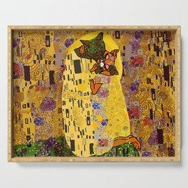 Kiss Klimt Cats Serving Tray
