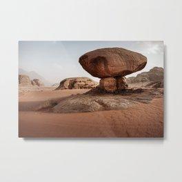 Wadi Rum | Jordan Photography | Mushroom Rock Photo | Wadi Rum Art Print Metal Print