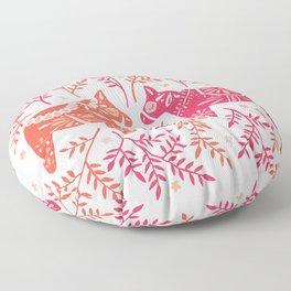 Swedish Dala Horses – Melon Palette Floor Pillow