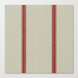 Vintage French Country Grainsack Berry on Linen for Twin and XL Twin bedding Canvas Print