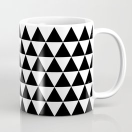 Black Triangle Pattern Coffee Mug