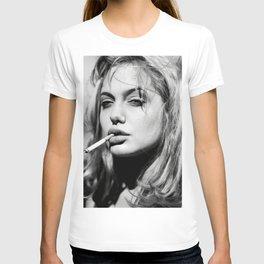 Angelina Jolie Retro Vintage Celebrity Silk Poster T-shirt