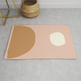 Nordic abstract art in earthy hues Rug