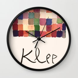 Paul Klee - Vintage French exhibition poster 1955 Wall Clock
