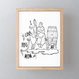 I love you mom ! mother's day gift ideas Framed Mini Art Print