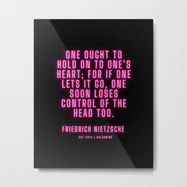 6   | Friedrich Nietzsche Quotes |210216| Pink Neon Philosophy Classic Words Saying Metal Print