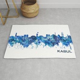 Kabul Afghanistan Skyline Blue Rug