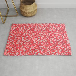NSFW Red Kinky S&M Pattern Rug