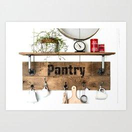 Pantry Shelf Art Print