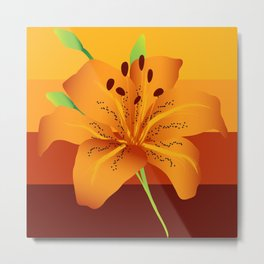Orange Tiger Lily Metal Print