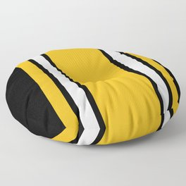 Pittsburgh Black And Yellow Abstract Floor Pillow