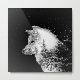 Winter Wolf Metal Print
