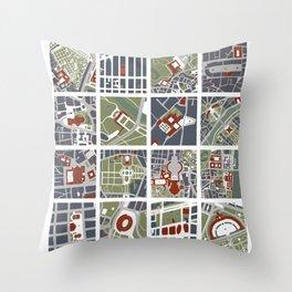 Urban fragments I of NewYork, Paris, London, Berlin, Rome and Seville Throw Pillow