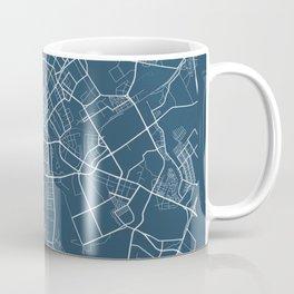 Minsk Blueprint Street Map, Minsk Colour Map Prints Coffee Mug