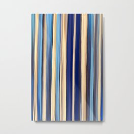 Shades of Blue and Gold Metal Print