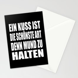 A Kiss Is The Nicest Way To Shut Up Stationery Cards