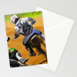 Motocross Dirt Racers Stationery Cards