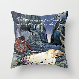 French Fairy Tales ~ Violette ~ Bookish Decor Throw Pillow