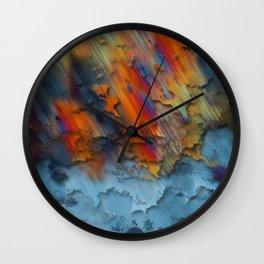 Diagonal Rainbow Redux Wall Clock
