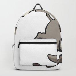 Funny Donkey Cartoon Backpack