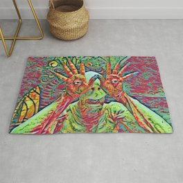 Pan's Labirinth Artistic Illustration Mixed Colors Style Rug