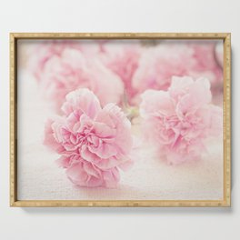 Pale Pink Carnations 2 Serving Tray