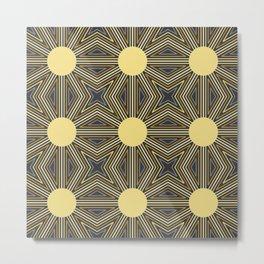 Sunny Vibe Pattern Metal Print