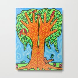 Henna Tree Metal Print
